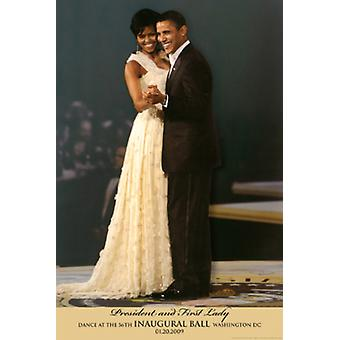 President & First Lady Dance at the 56th Inaugural Ball Washington DC 2009 Poster Print (12 x 18)