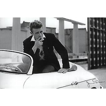 James Dean - White Car Poster Poster Print