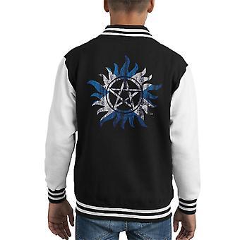 Supernatural Scottish Anti Possession Kid's Varsity Jacket