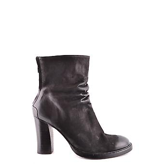 The last conspiracy TLC1787001 ladies black leather ankle boots
