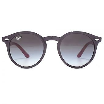 Ray-Ban Junior Keyhole Round Sunglasses In Violet Pink