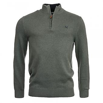 Crew Clothing Crew Clothing Mens Classic 1/2 Zip Knitwear S/S 18