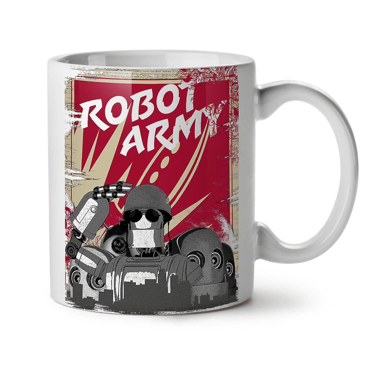Robot Tasse Funny 11 Armée Geek Café Céramique Nouveau Blanc OzWellcoda Thé 35Ljc4RAq