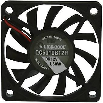 Axial fan 12 Vdc 25.74 m³/h (L x W x H) 60 x 60 x 10 mm QuickCoo