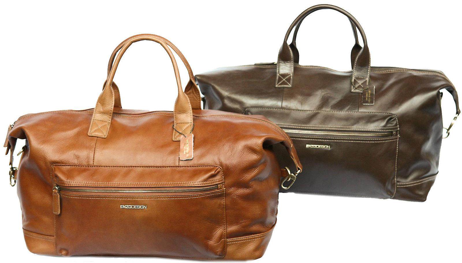 Leather Holdall Hand Luggage Travel Bag Overnight Weekender Large Cabin Case