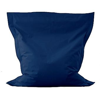 Beanbag cushions beanbags blue stitched and filled modern seat bag offer