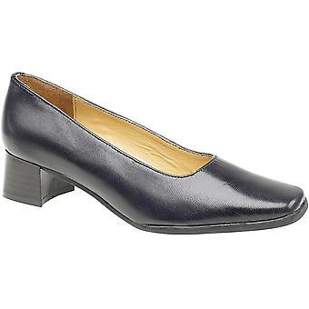 Amblers dames Walford Slip op volledige leer Office formele schoen Navy