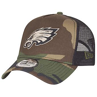 New Era Adjustable Trucker Cap - Philadelphia Eagles camo