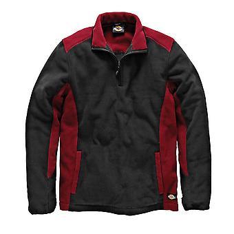 Dickies Mens Workwear Two Tone Micro Fleece Red Black JW7011R