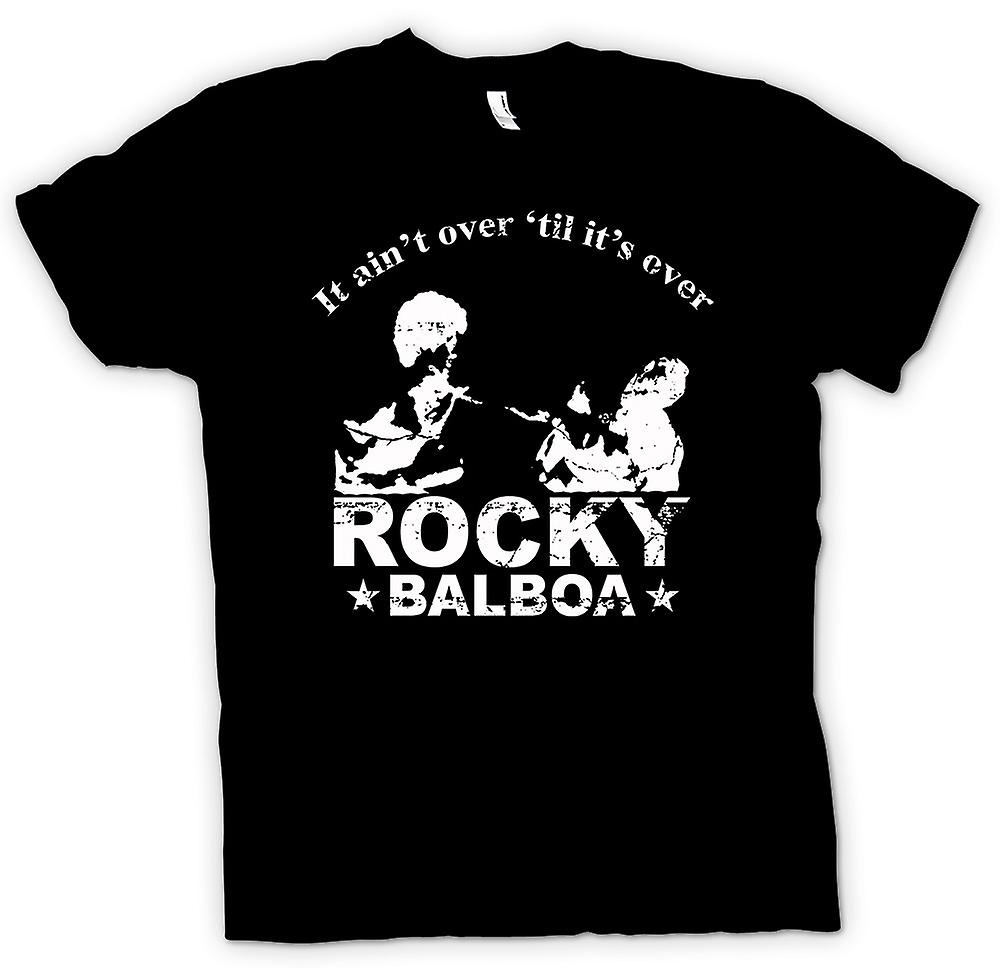 Kids T-shirt - Rocky Balboa Aint Over - boksen - grappig
