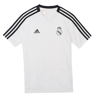 2018-2019 real Madryt Adidas Training koszula (biały) - dla dzieci