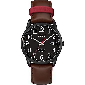 Timex Herrenuhr Easy Reader Color Pop 38mm Leder TW2R62300