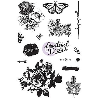 Zella Teal s'accrochent Rubber Stamps 4