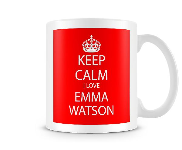 Keep Calm I Love Emma Watson Printed Mug