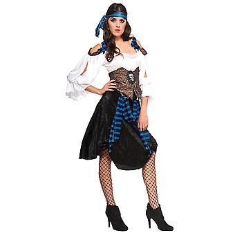 Rum Runner pirat płaszcza i szpady Buccaneer książki Karaibów tydzień damska kostium
