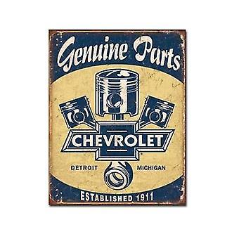 Letrero de Metal de pistones de Chevrolet