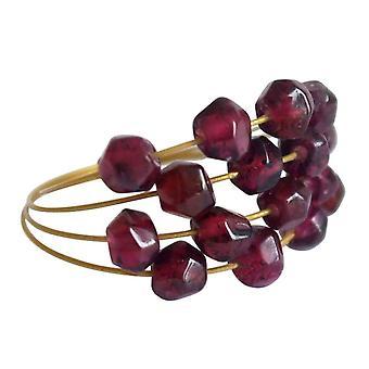 Gemshine - women's - ring - gull - Garnet - Mørkerød