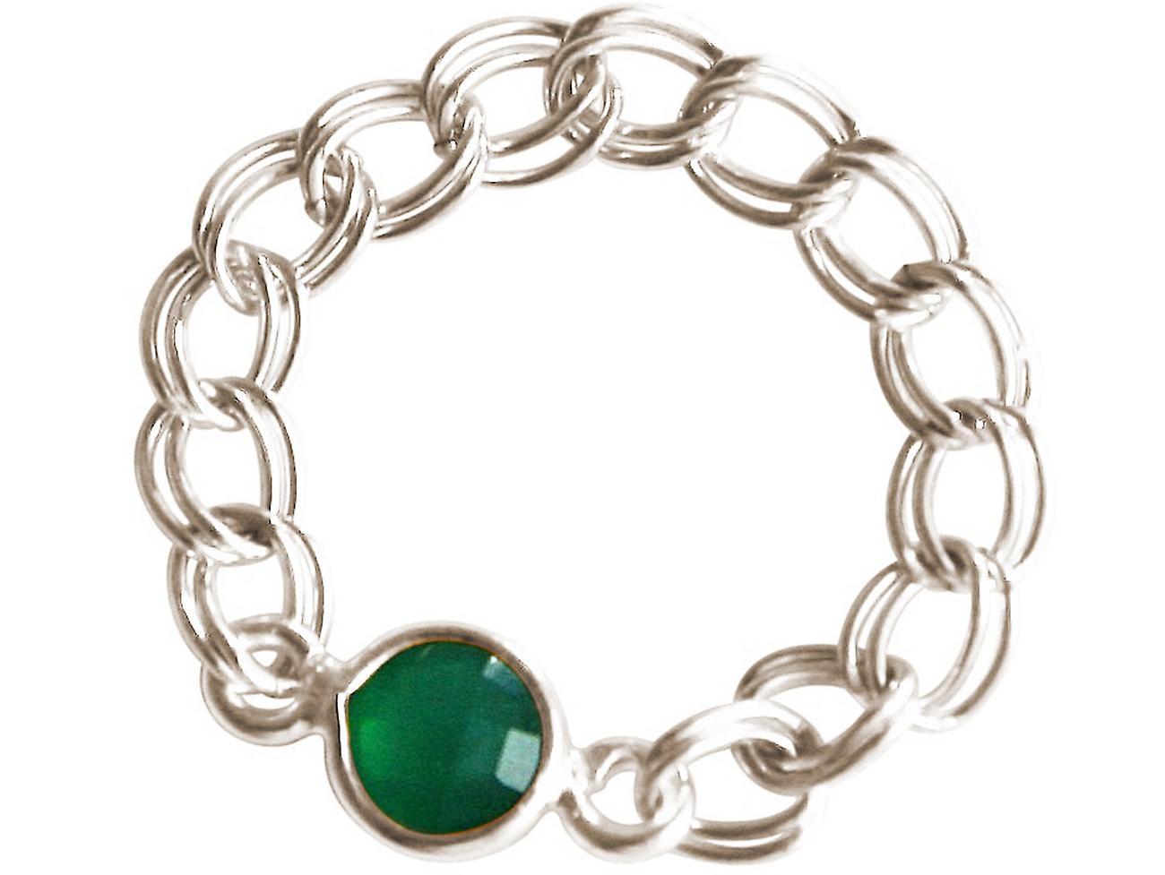 Gemshine - femmes - sacue - 925 argent - Smaragd - vert - Beweglich - Geschmeidig