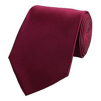 Zawiązać krawat krawat krawat 8cm ciemny czerwony czerwony czerwony Fabio Farini