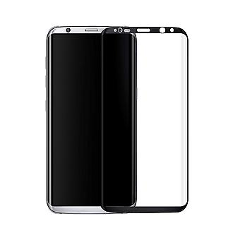 Samsung Galaxy S8 3D armoured glass foil display 9 H protective film covers case black