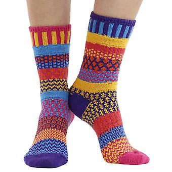 Carnation recycled cotton multicolour odd-socks   Crafted by Solmate