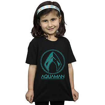 DC Comics Girls Aquaman Aqua Logo T-Shirt