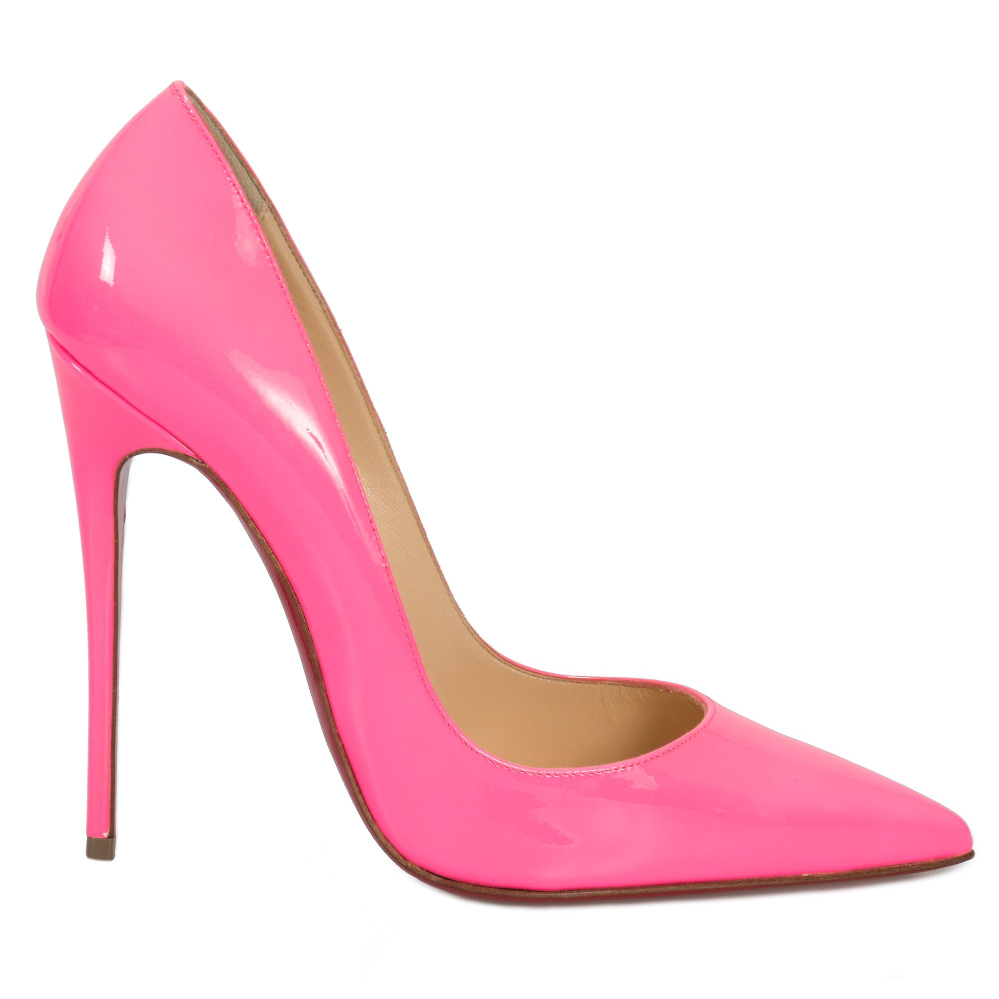 on sale 27a4d fde24 Christian Louboutin So Kate Fuchsia Patent Leather 100mm Pumps
