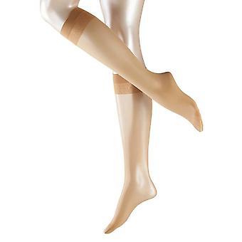 Falke Matte Deluxe 20 Denier Transparent Matte Knee High Tights - Golden Tan
