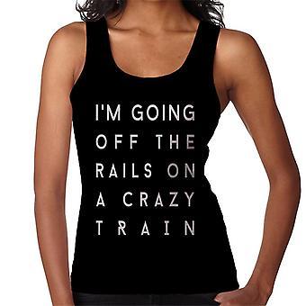 Crazy Train Song Lyric Women's Vest