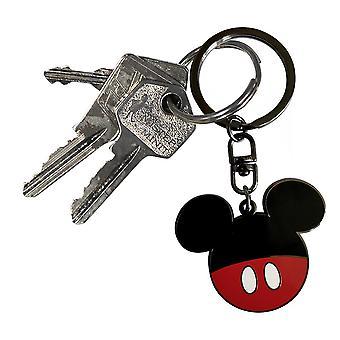 Mickey Mouse Schlüsselanhänger Mickey Schlüsselanhänger, silberfarben, aus Metall.