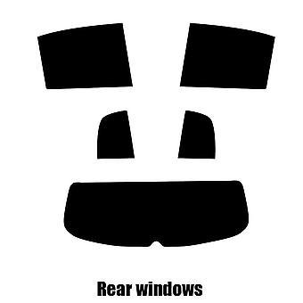 Pre cut window tint - VW Golf Plus - 2008 to 2013 - Rear windows