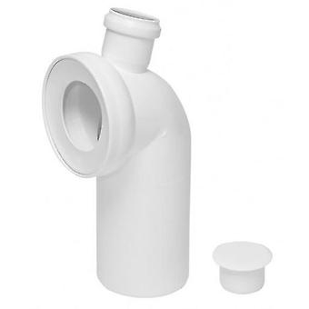 110mm WC Toilet Waste Water Pan Soil Pipe Connector with 50mm Side Inlet