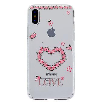 iPhone X TPU Skins-coeur