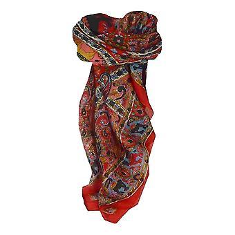 Шелковица шелка традиционными квадратный шарф Kaladi красный пашмины & шелка