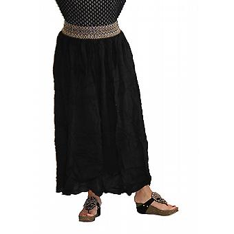 Waooh - Fashion - elastic waist skirt embroidered long