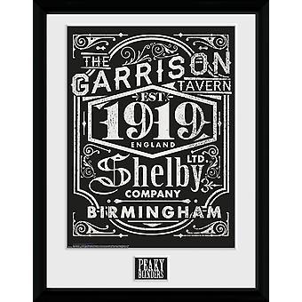 Mizerny okulary etykieta oprawione Collector Print
