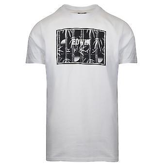 Edwin Edwin White Bamboo Print T-Shirt
