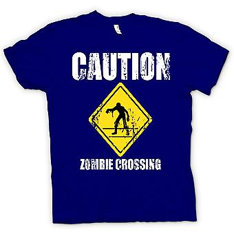 Kids T-shirt-Zombie Crossing - Funny - Horror
