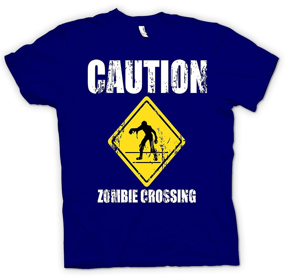 Mens T-shirt - Zombie Crossing - Funny - Horror