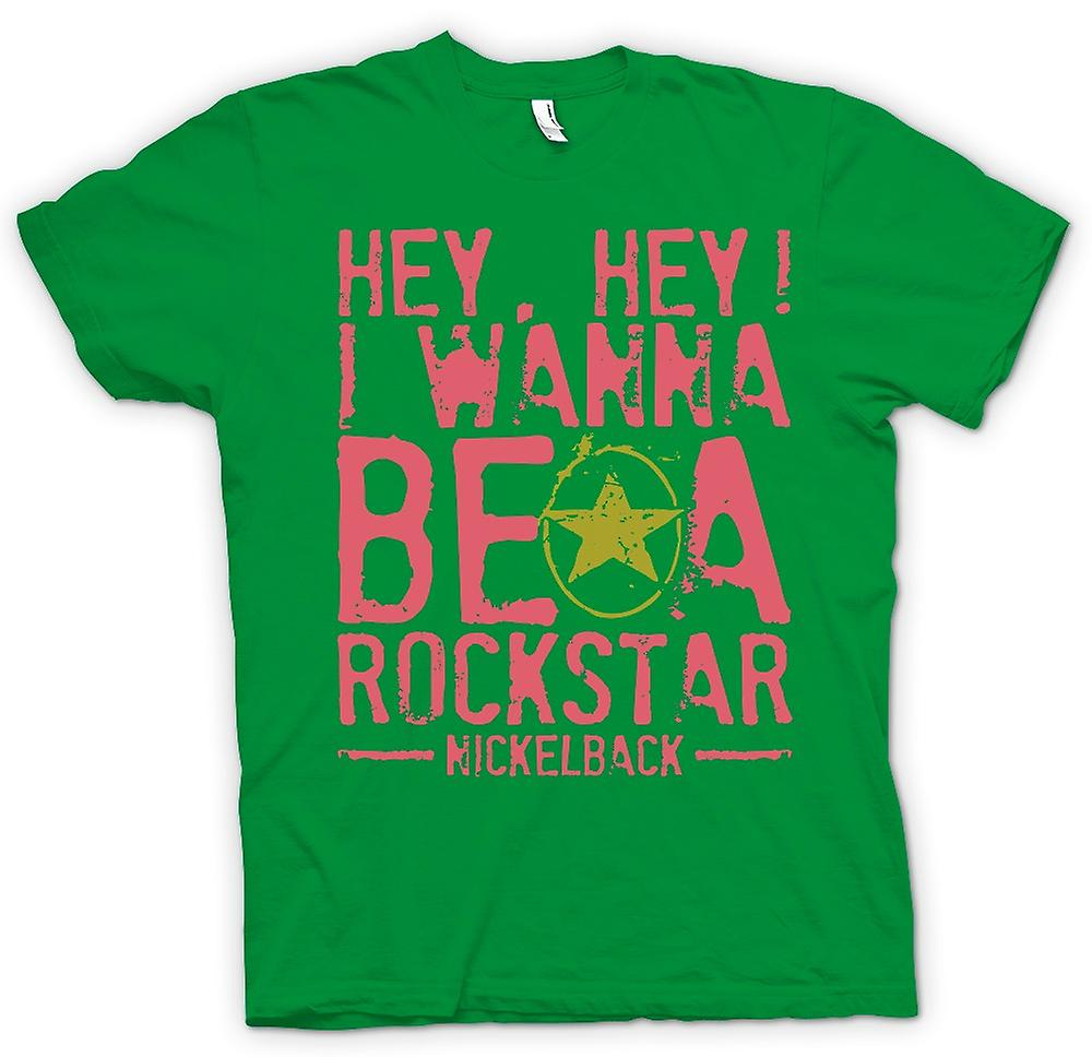 Mens t-shirt - I Wanna Be A Rock Star