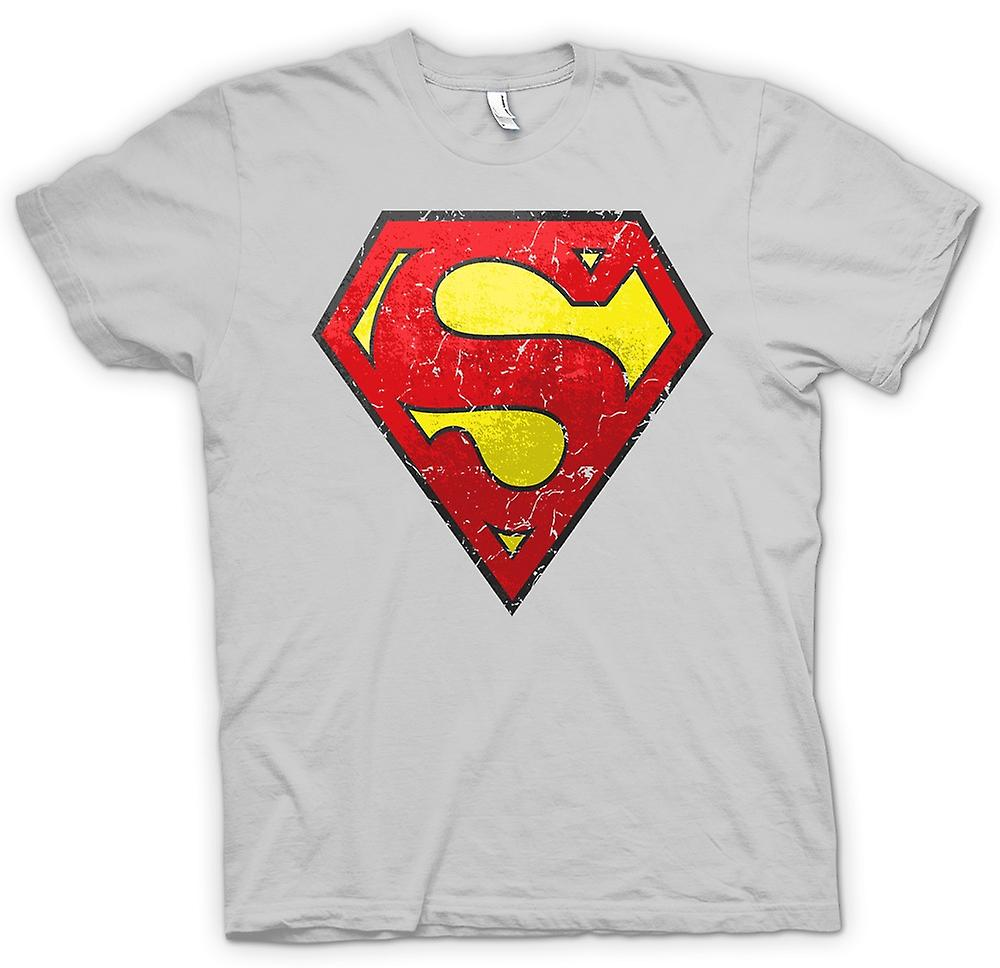 Mens T-shirt - Superman Distressed Logo - Cool