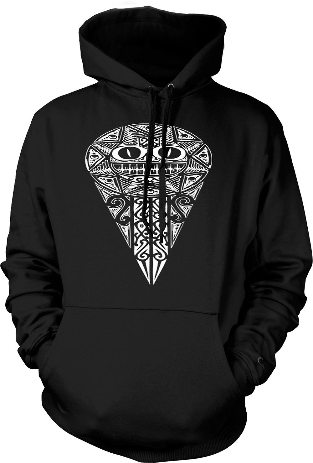 Mens Hoodie - Aztec Tribal War Design