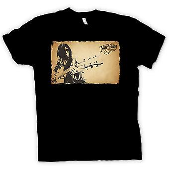 Herre T-shirt - Neil Young - Rock Legend