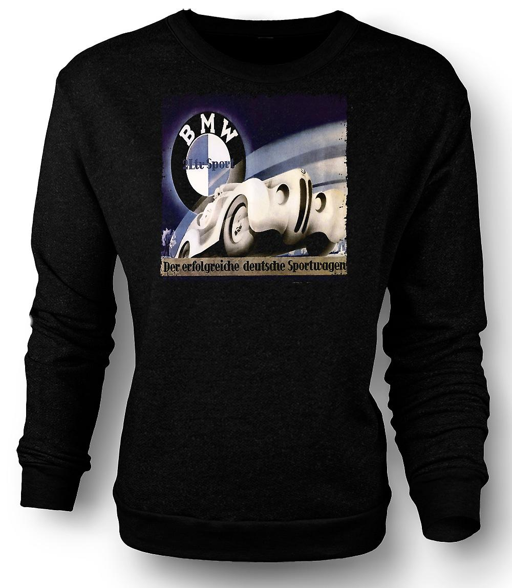 Mens Sweatshirt Doppeldeckzuge German Train