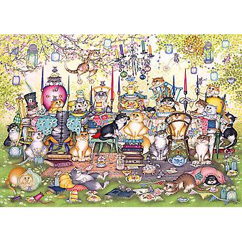Rompecabezas de Gibsons Mad Catter Tea Party (1000 piezas)