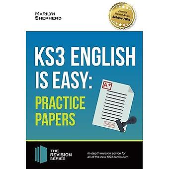 KS3: English is Easy - PRACTICE PAPERS 2017. Complete guidance for the new KS3 Curriculum. Achieve 100% (Revision...
