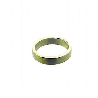 9ct or 4 mm simple bague de mariage plat taille I