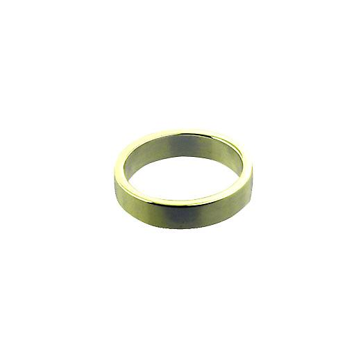 9ct Gold 4mm plain flat Wedding Ring Size P