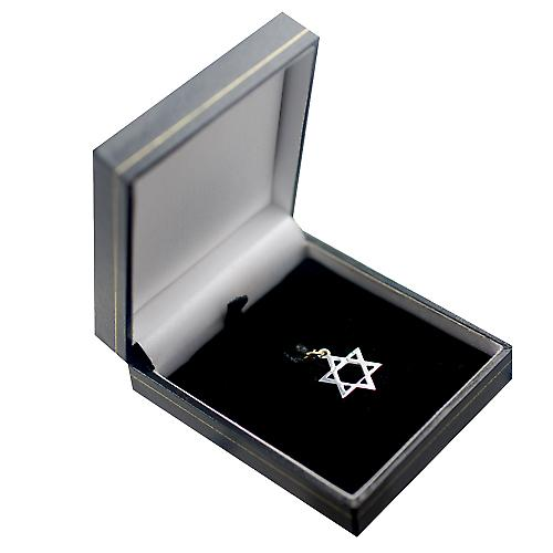 1/20th 14ct yellow gold on Silver 17x17mm plain Star of David Pendant