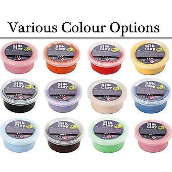 40g Pots of Silk Clay for Kids & Adults Modelling Crafts